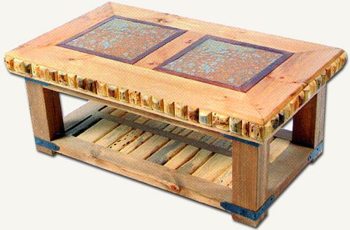 Nábytek z exotického dřeva: Originální odklídací stolek z kaktusového dřeva